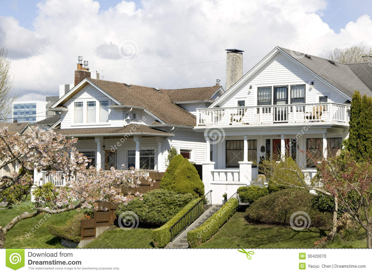 Pictures Of Nice Houses nice houses neighborhood stock photo - image: 30420070