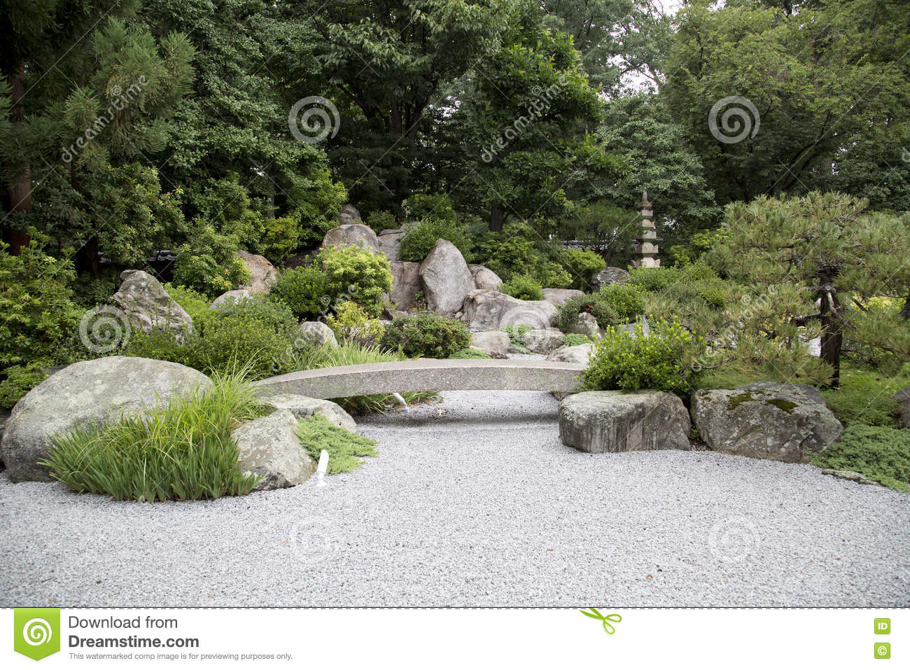 nice japanese garden design stock photo