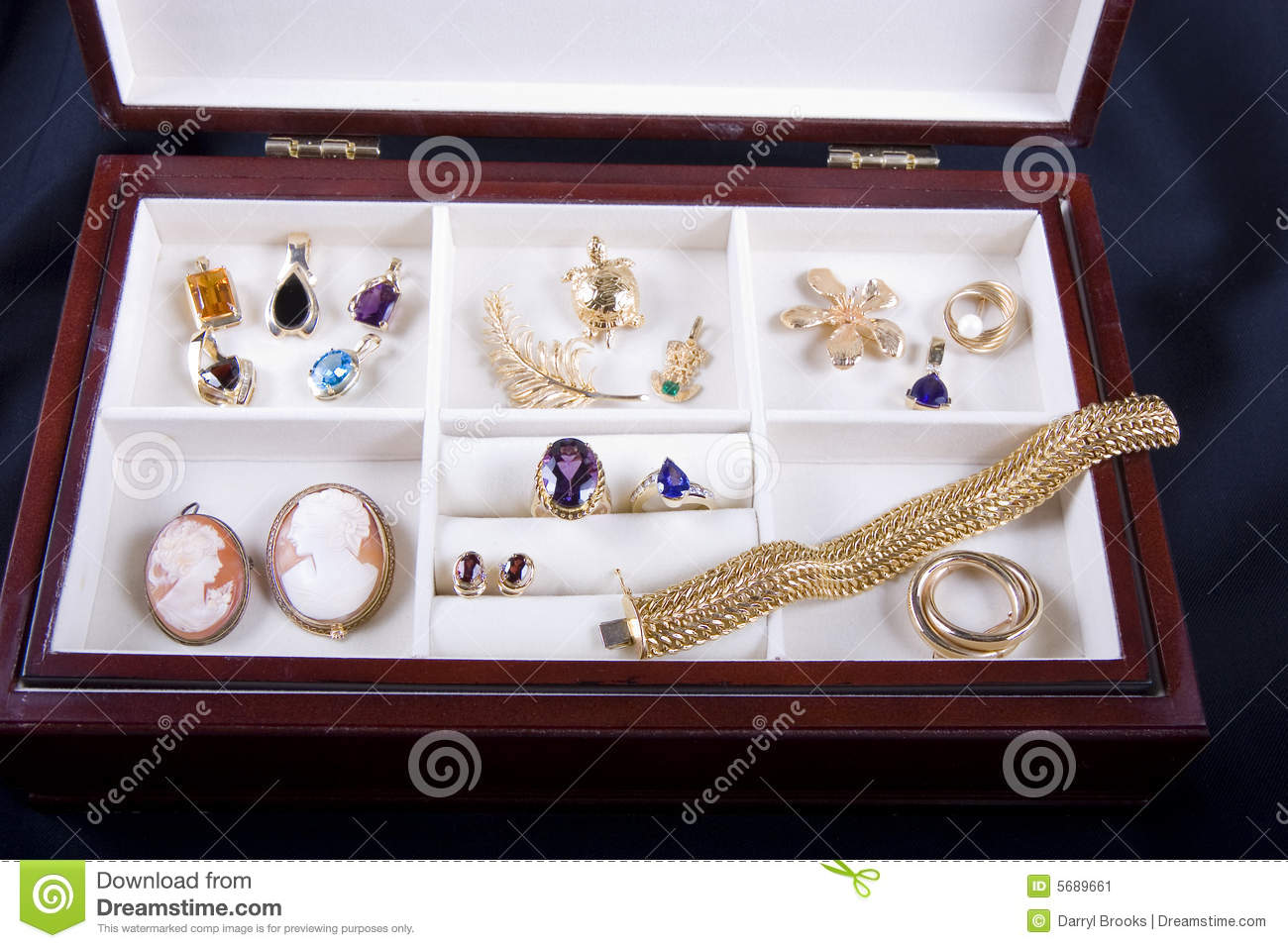 Nice Jewelry Box stock image Image of silver beauty 5689661
