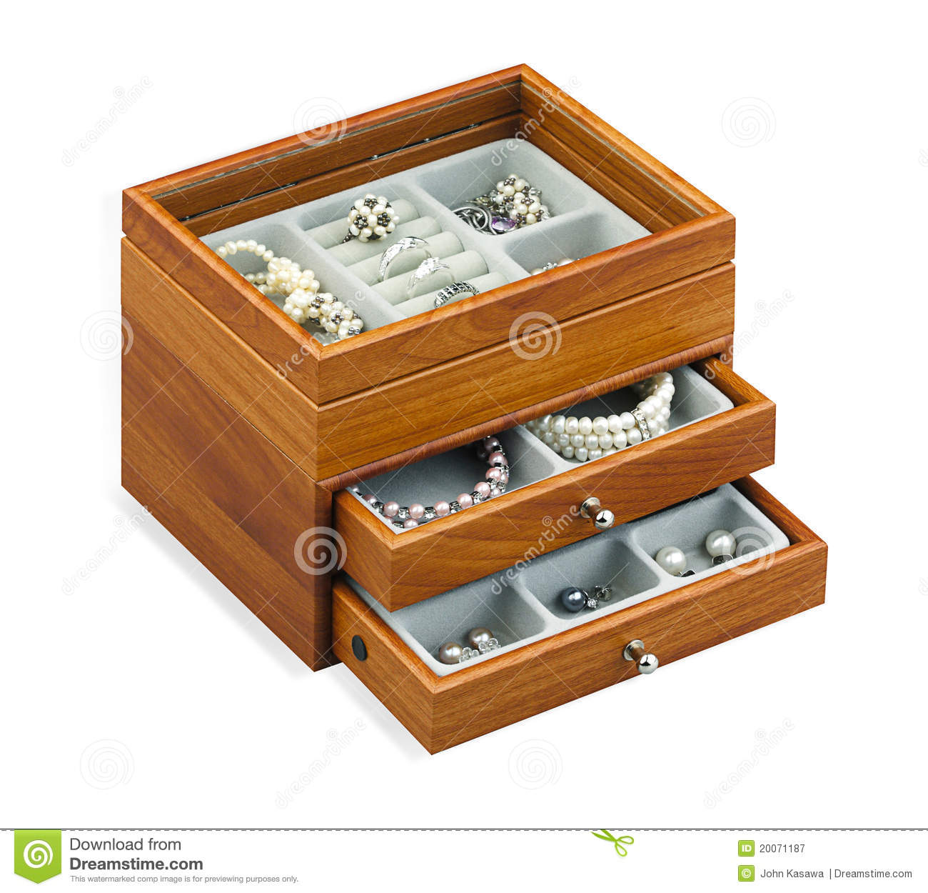 Nice Jewelry Chest Box Isolated On White Royalty Free