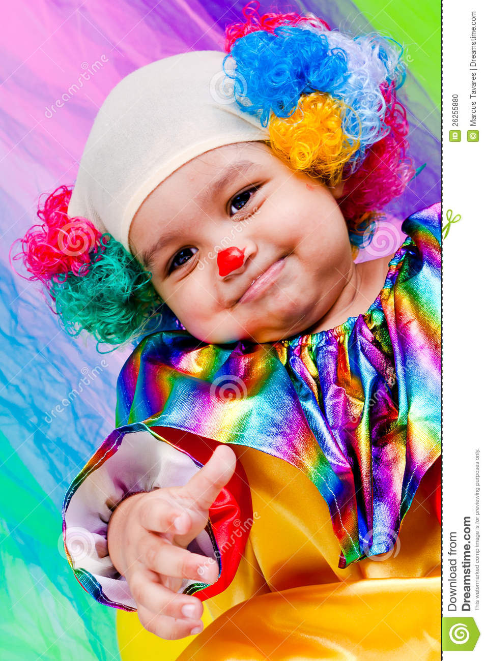 A Nice Kid Wearing Clown Clothes. Stock Photo - Image 26255880