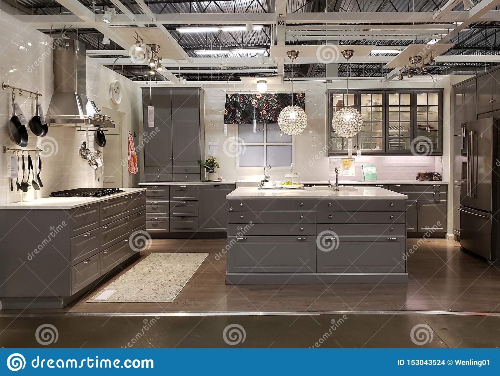 Nice Kitchen Design In Store IKEA Editorial Stock Image ...