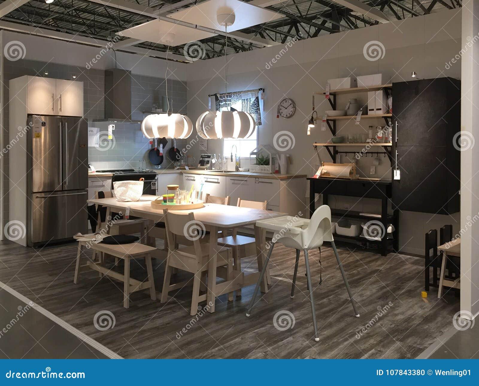 Nice Kitchen Furniture At Store Ikea America Editorial Image Image