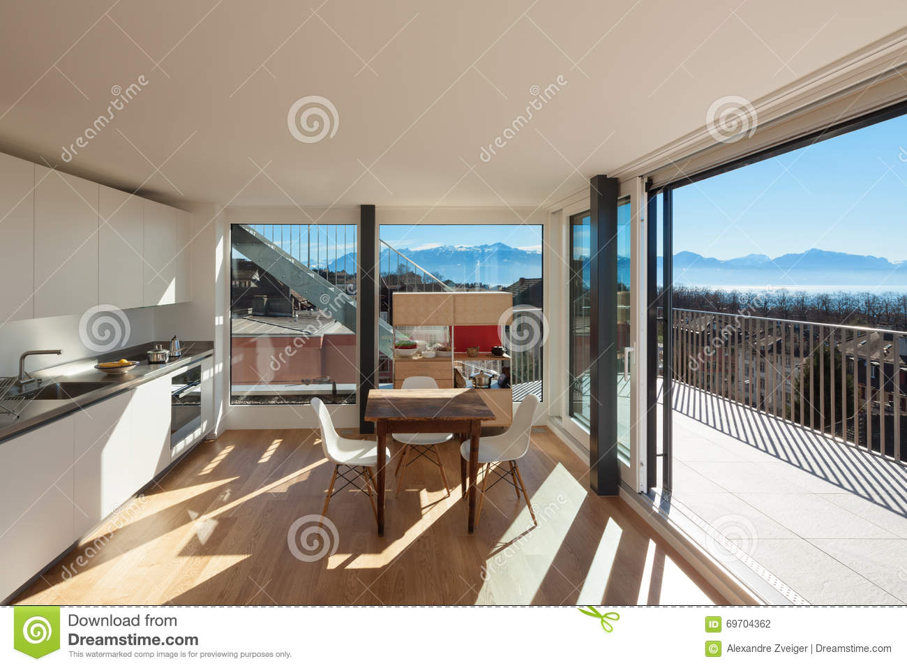 Nice kitchen interior stock photo image 69704362 - Nice interior pic ...