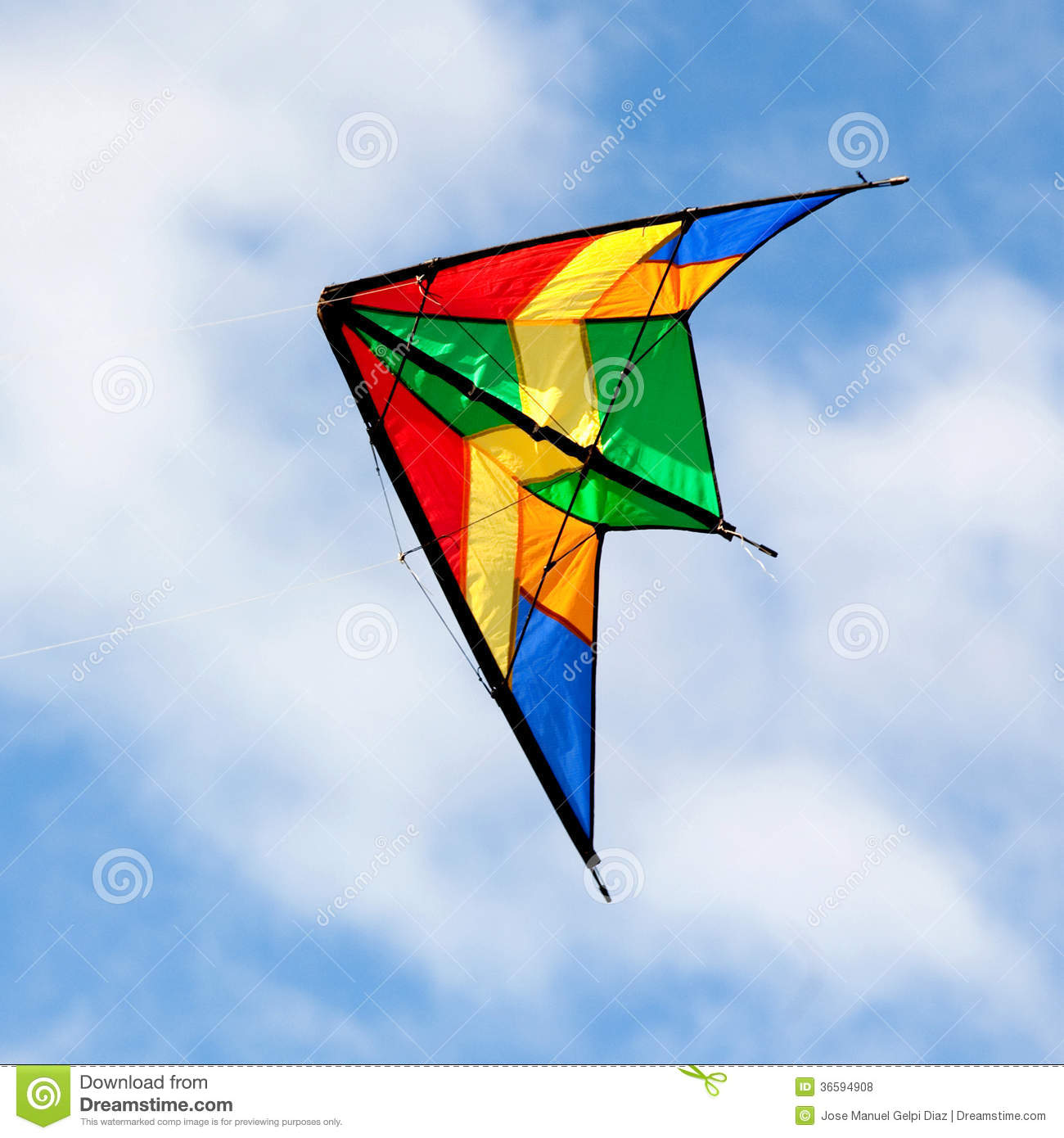 Nice Kite Flying Over Blue Sky Royalty Free Stock Photos ...