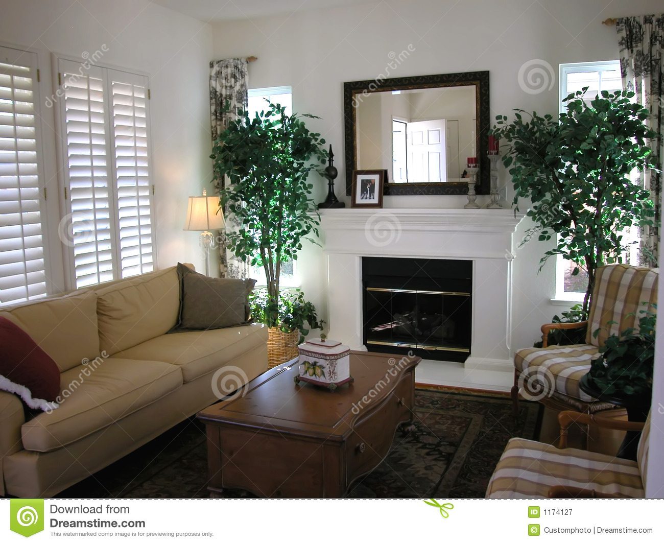 Nice Living Room Royalty Free Stock Photography - Image: 1174127