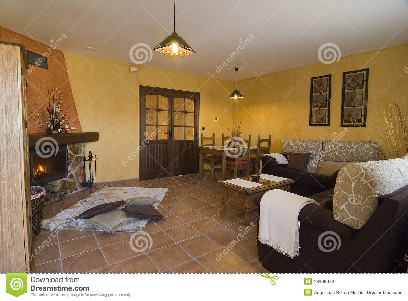 a nice living room stock photography image 18909472