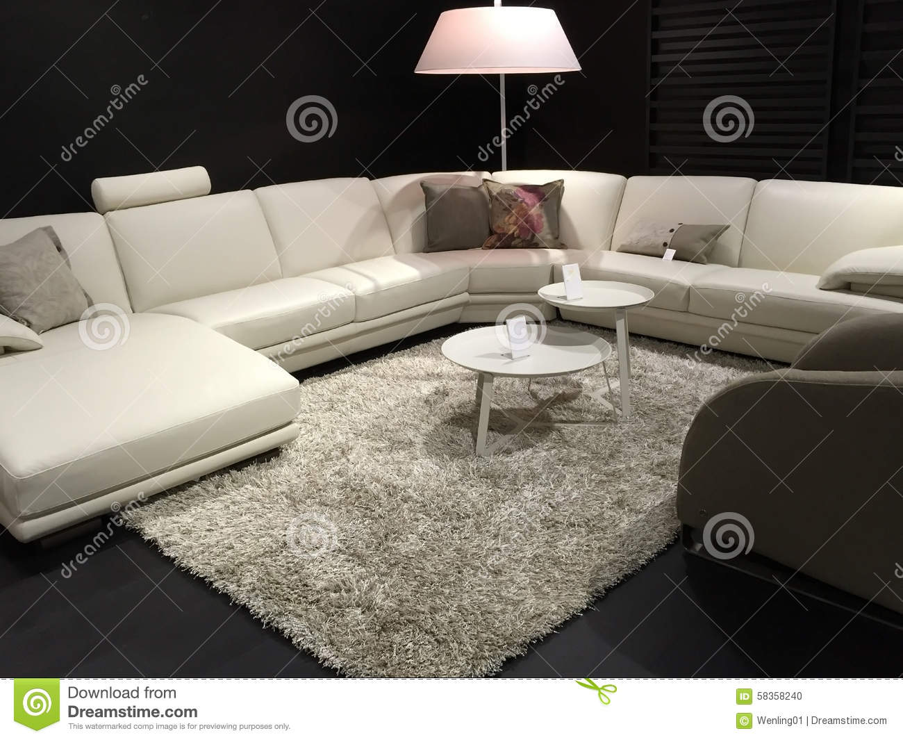 nice living room furniture selling at store stock photo. Black Bedroom Furniture Sets. Home Design Ideas