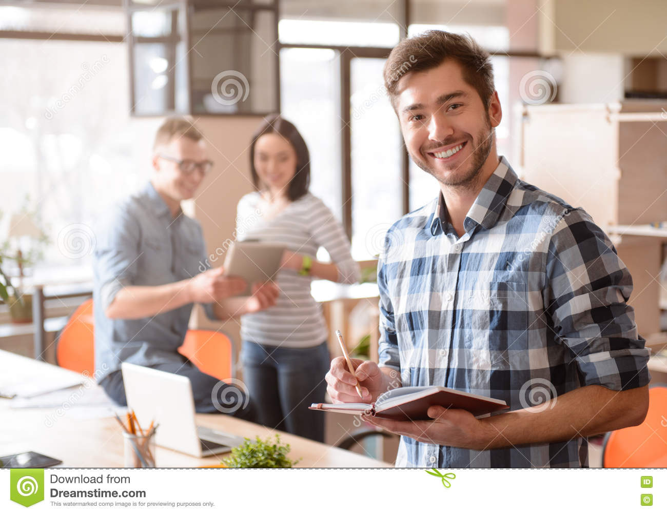 nice person office. Download Nice Man Standing In The Office. Stock Image - Of Cheerful, Person Office T