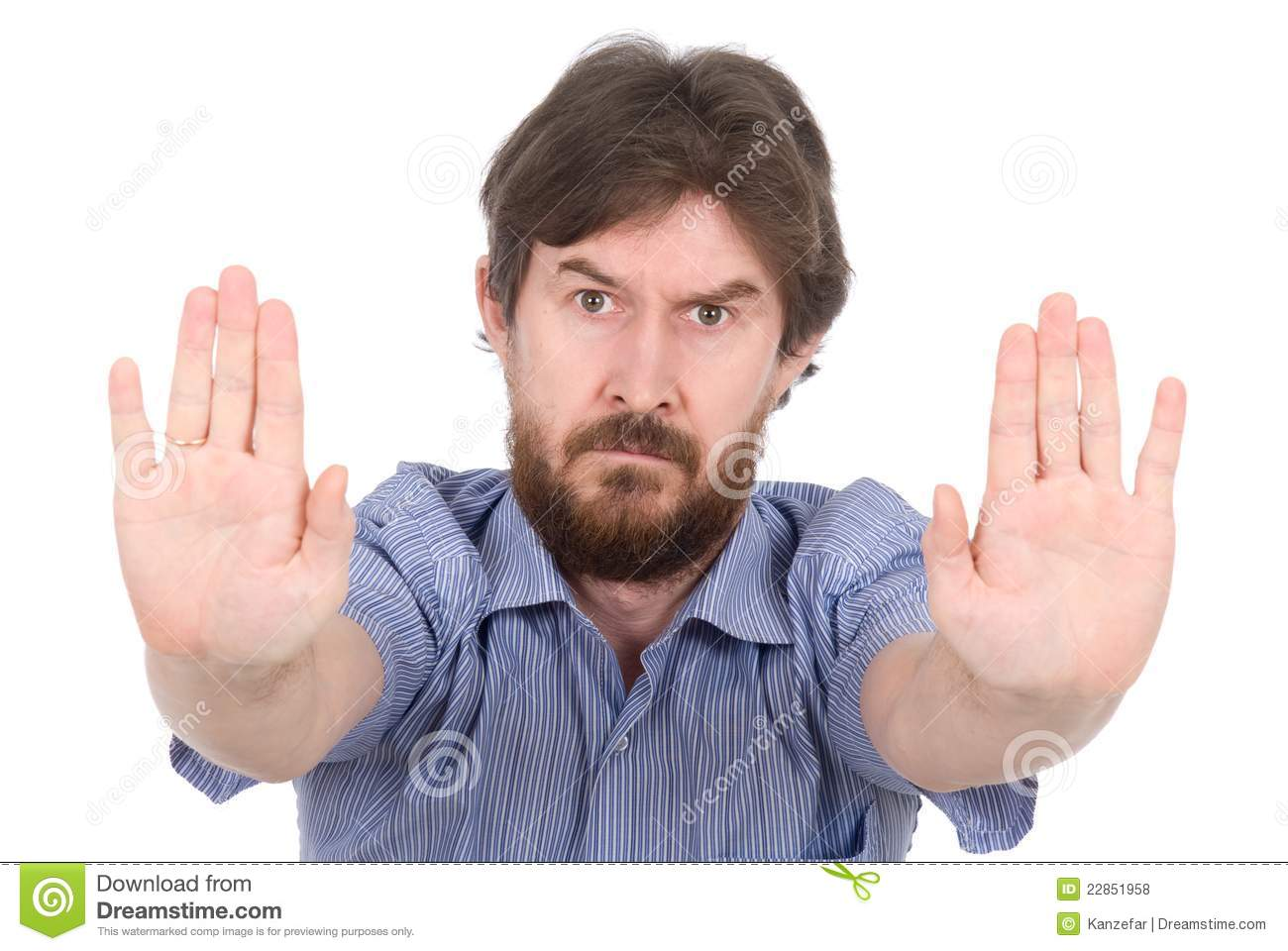 The nice man stops hands stock photo. Image of adult
