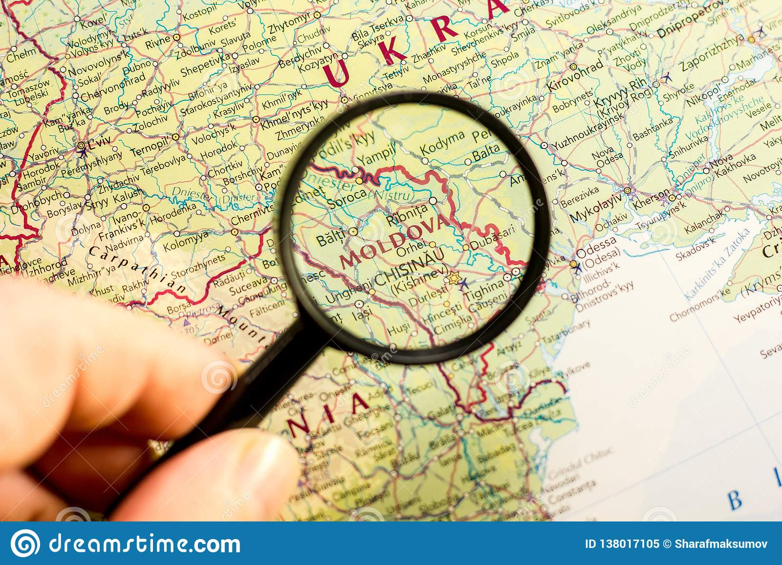 Moldova On The Map Of The World Stock Image - Image of