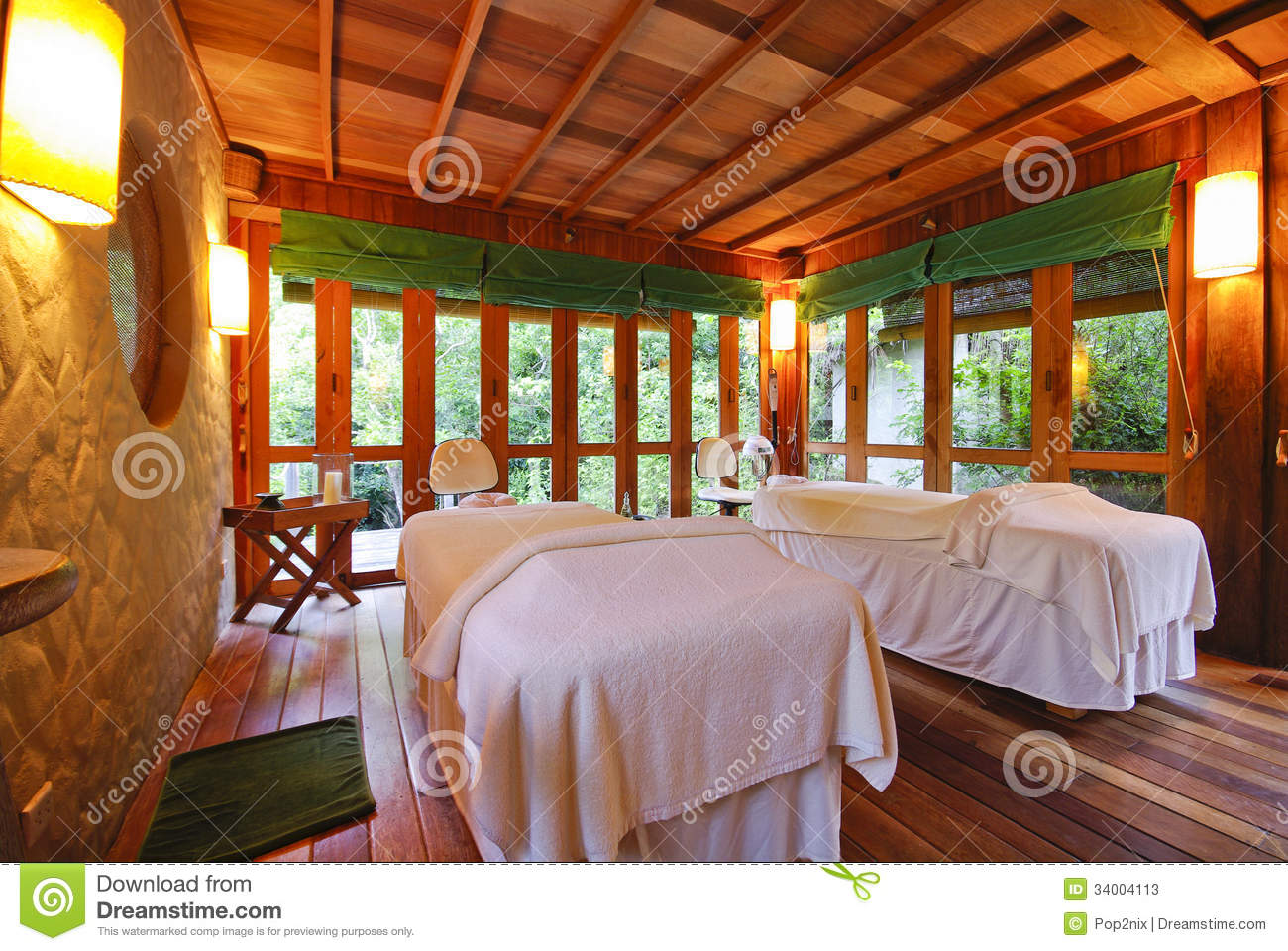 Nice Massage Room In Spa Saloon Stock Image - Image of