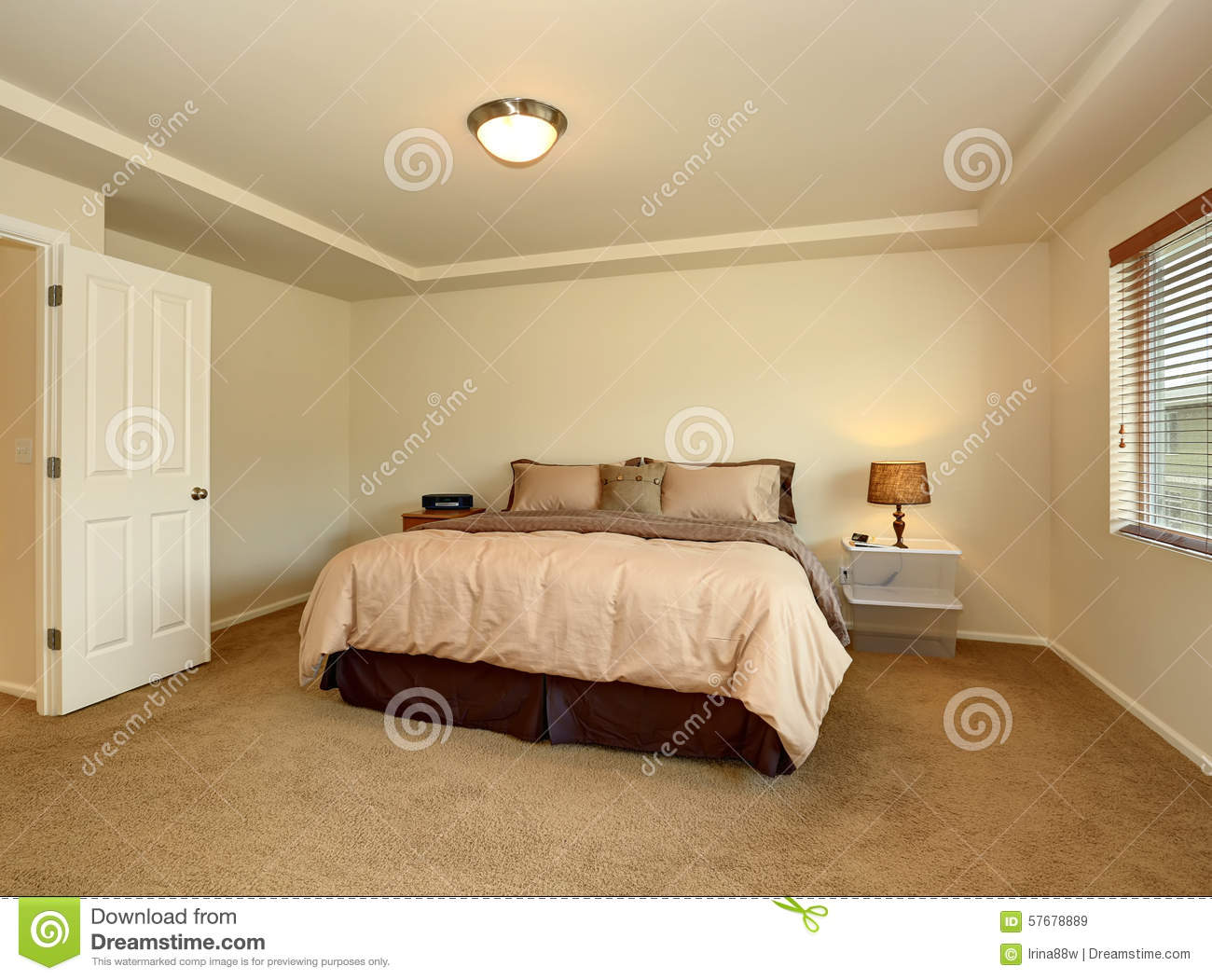 Nice Master Bedroom With Simple Decor Stock Image Image Of House Modern 57678889