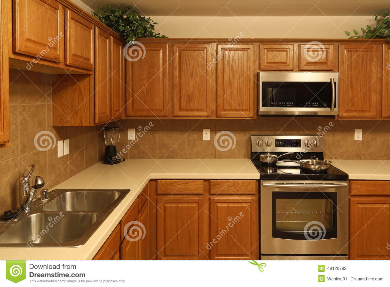 Nice modern kitchen background stock photo image 48120782 for Nice modern kitchens