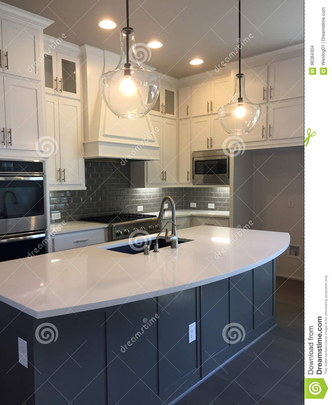 Nice Modern Kitchen Design In A New House Stock Photo Image Of