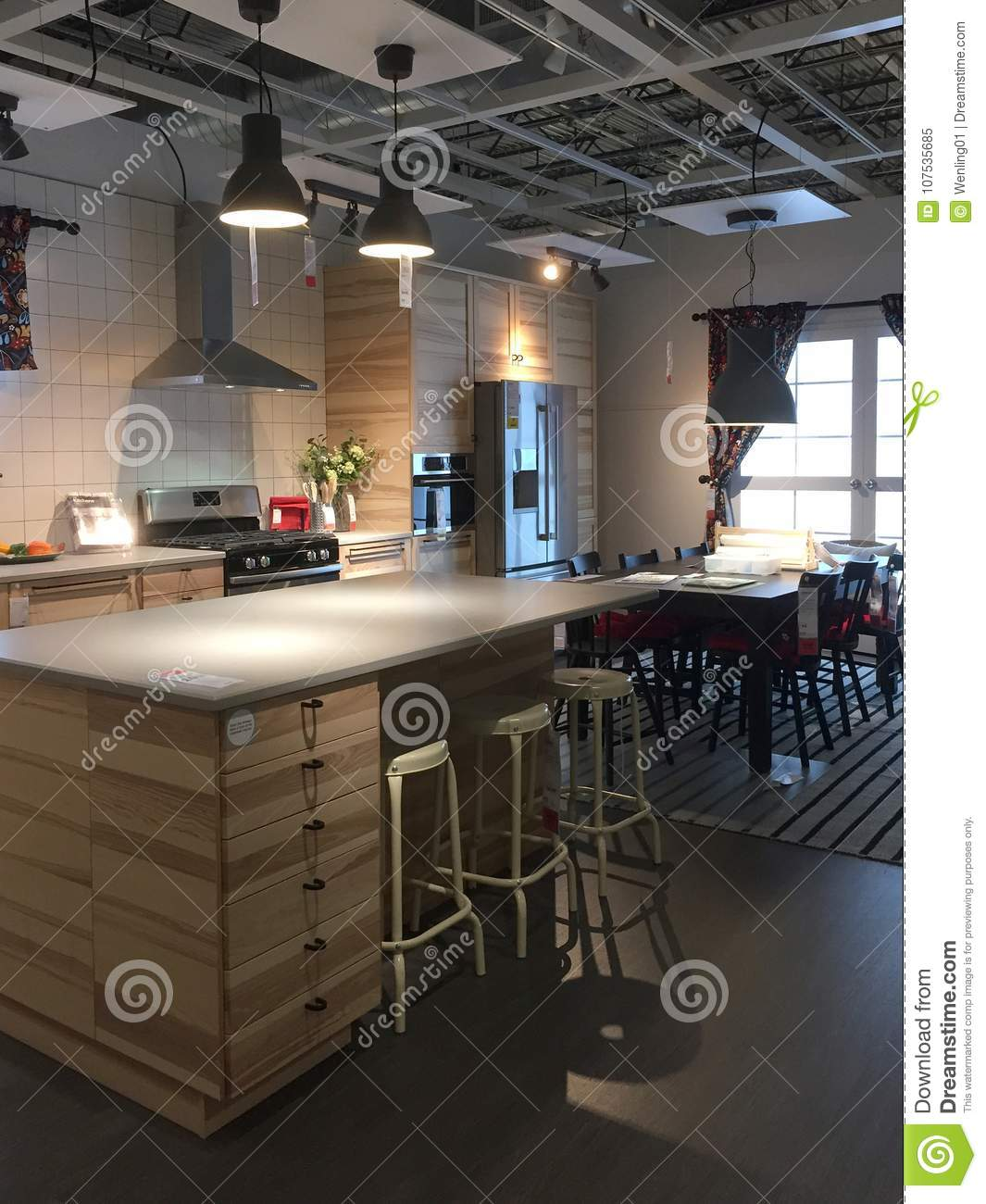 Modern Kitchen Furniture For Sale At Ikea Usa Editorial Image