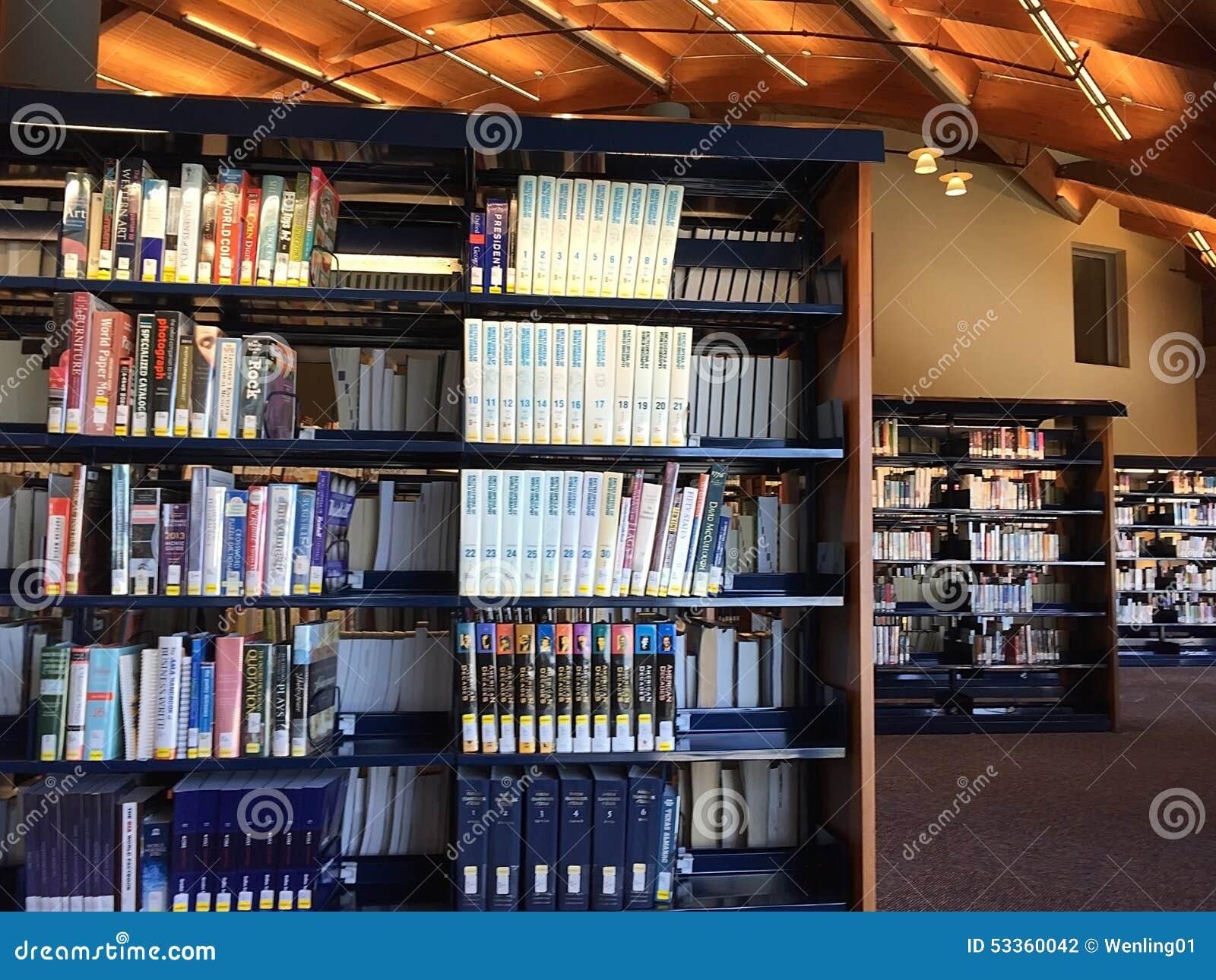 Frisco public library interior tx usa