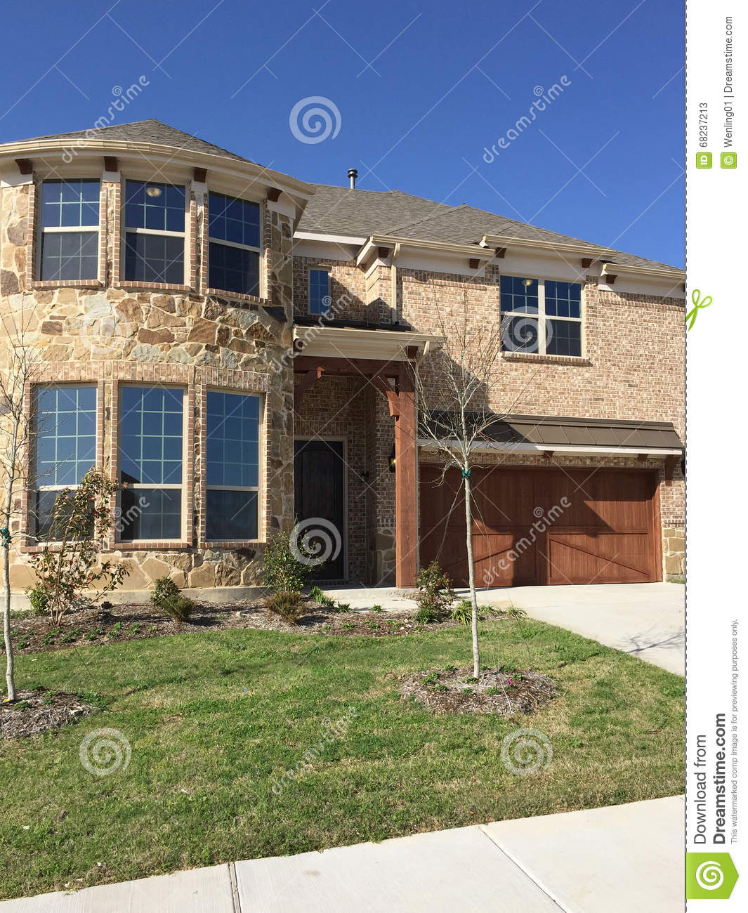 Nice new two story house in suburban stock photo image for New two story homes