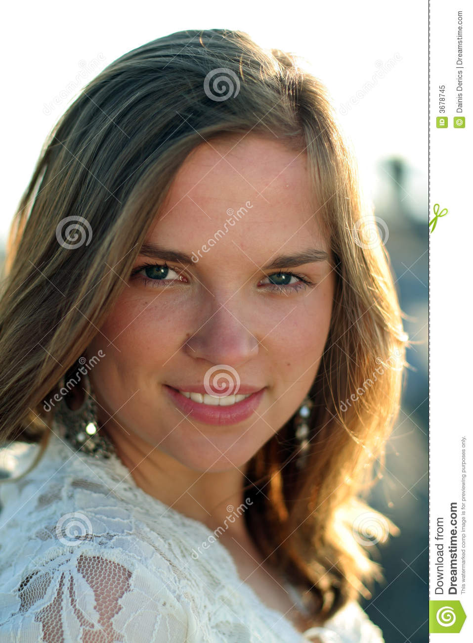 Nice Portrait Of Happy Teen Girl Royalty Free Stock Photo - Image 3678745-7808
