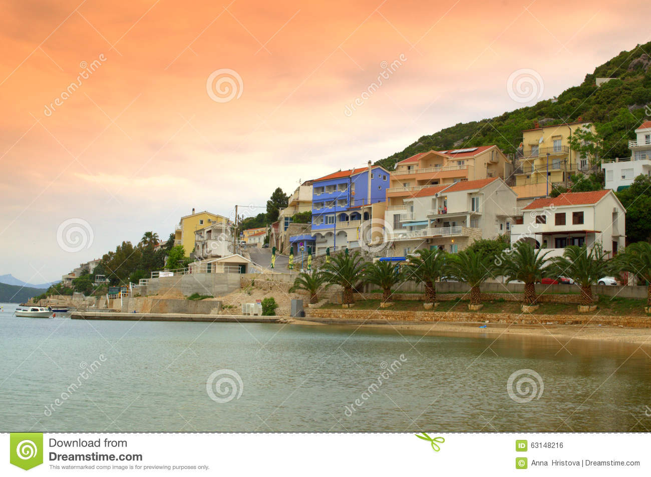 Nice small town on adriatic coast stock photo image for Small east coast beach towns