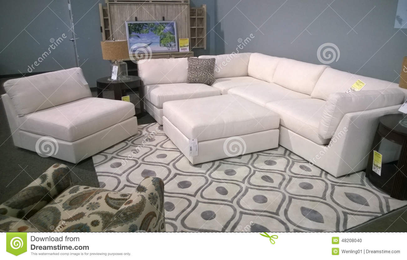 Nice sofa selling at store editorial image image 48208040