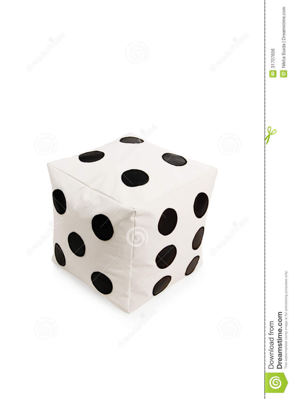 Nice And Soft Beanbag Chair In Shape Of Dice Royalty Free