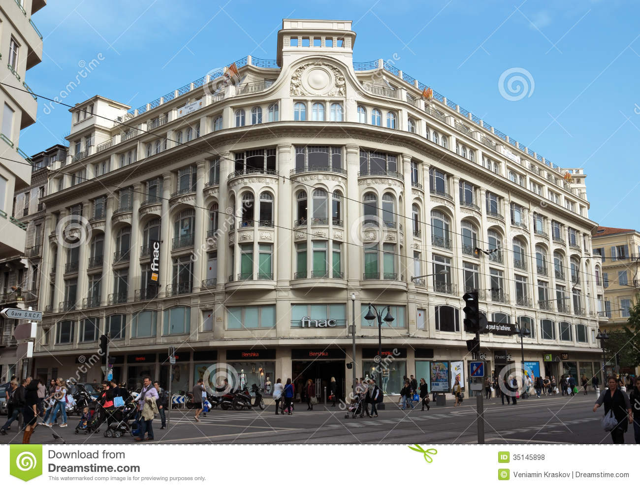 Nice - Streets And Architecture Of Buildings Editorial Stock Photo ...