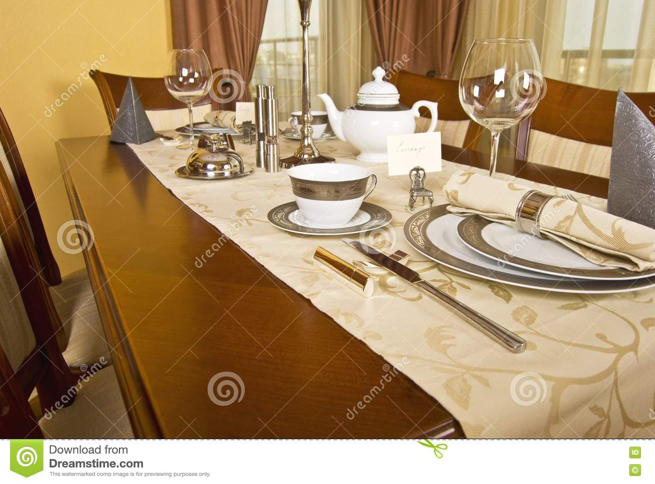 nice table setting stock image image 10279671