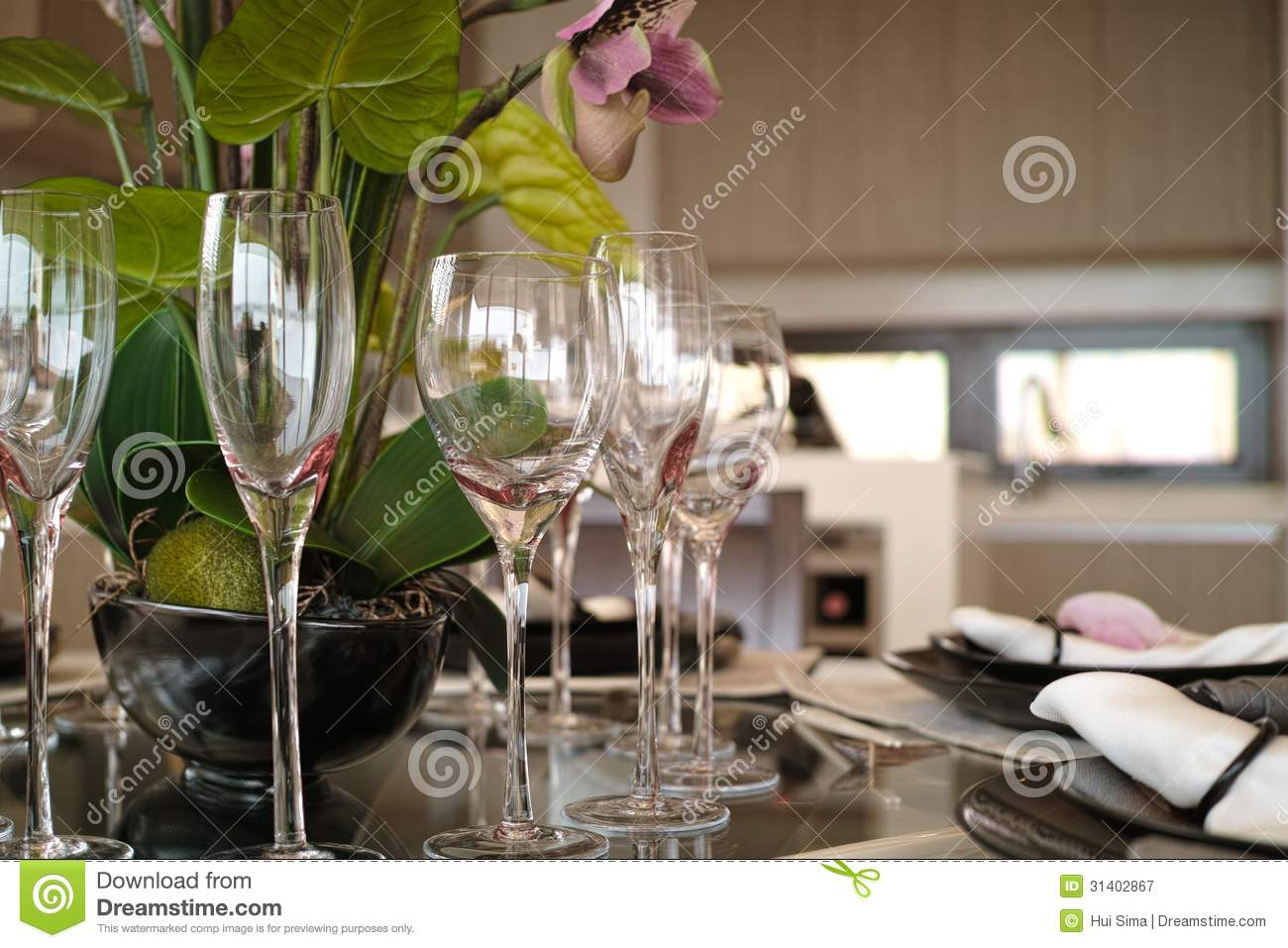 Nice Table Setting Royalty Free Stock Photography Image