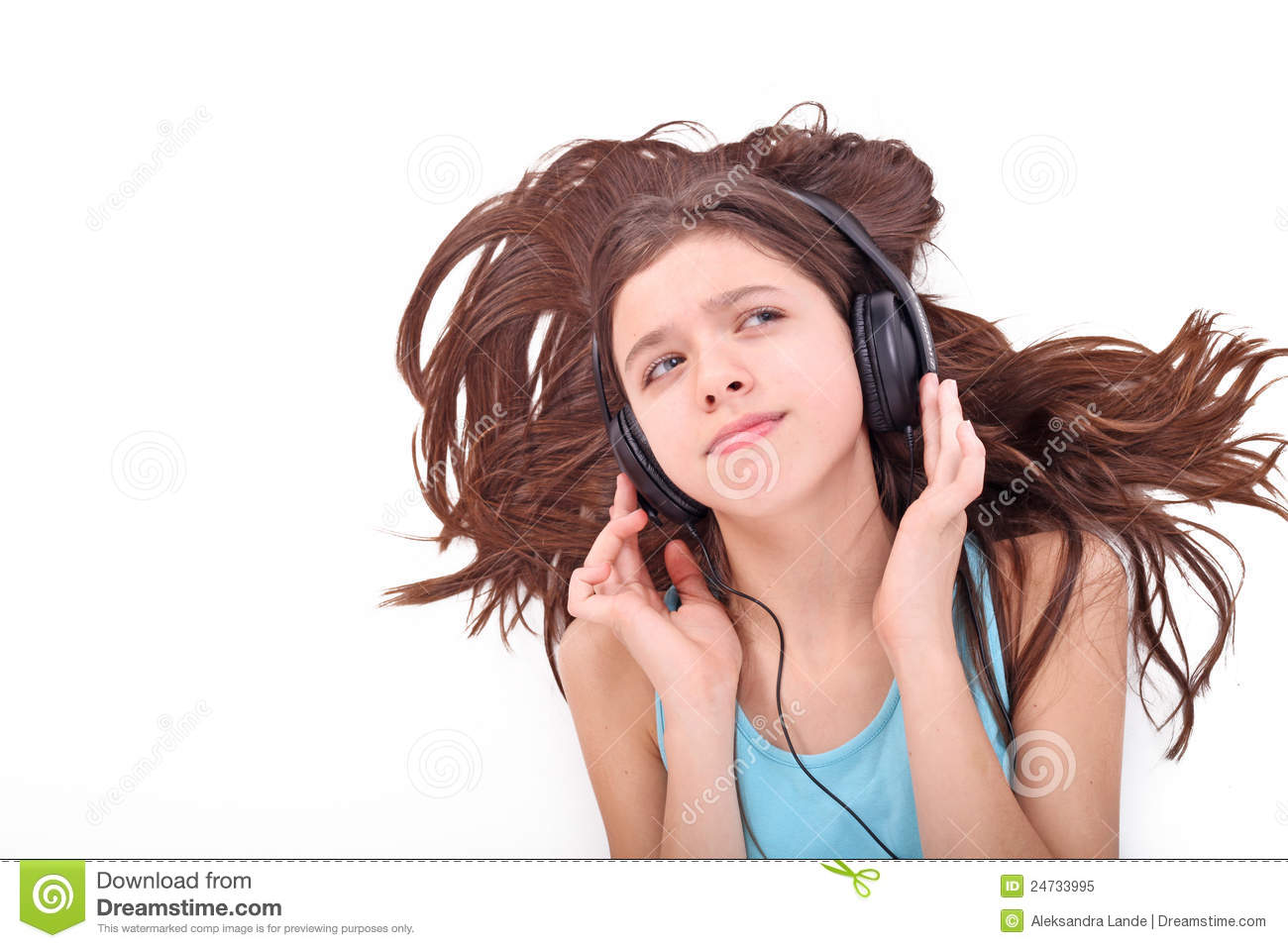 Nice Teen Girl With Headphones Royalty Free Stock Photo ... Happy High School Student Clipart