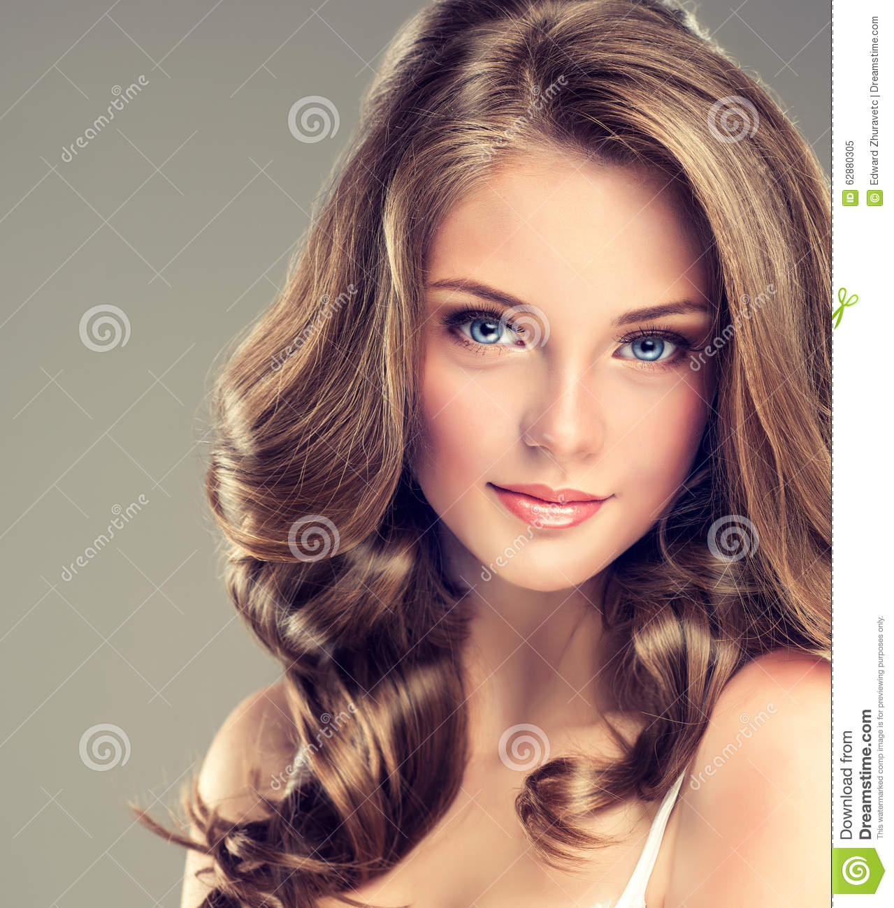 Nice And Tender Look Of Young Girl Stock Photo Image 62880305