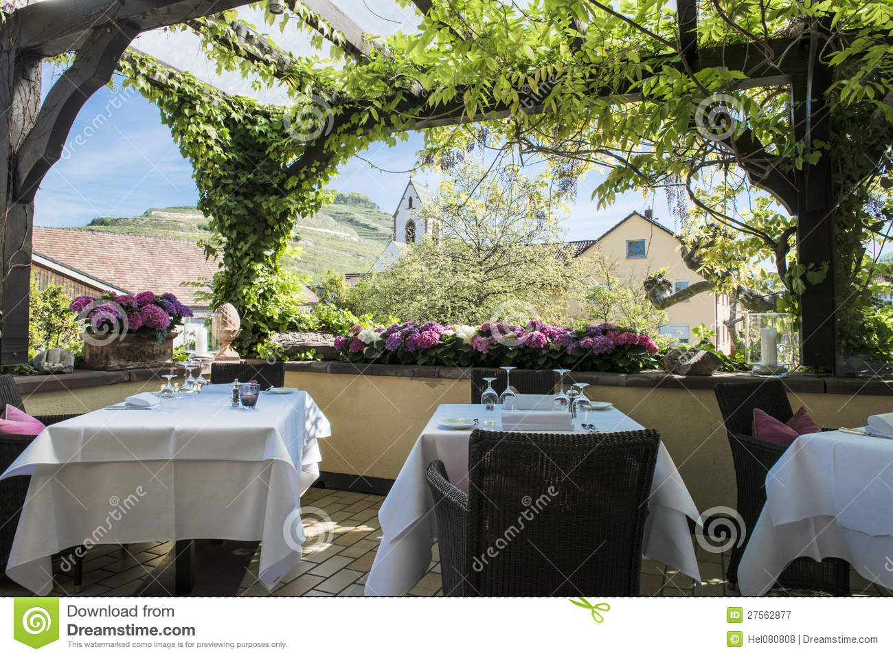 Patio with pergola royalty free stock photography image 27562877 - Smeedijzeren pergolas voor terras ...