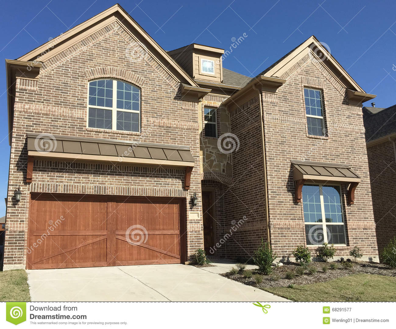 Nice Two Story New House Stock Photo Image 68291577