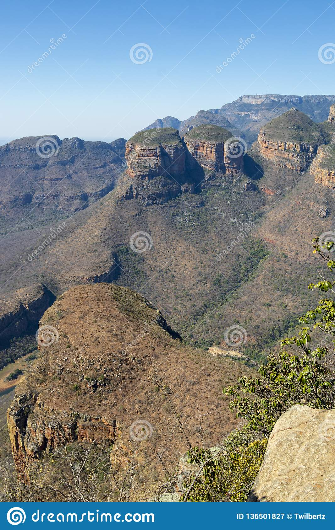 Three Rondavels in South Africa