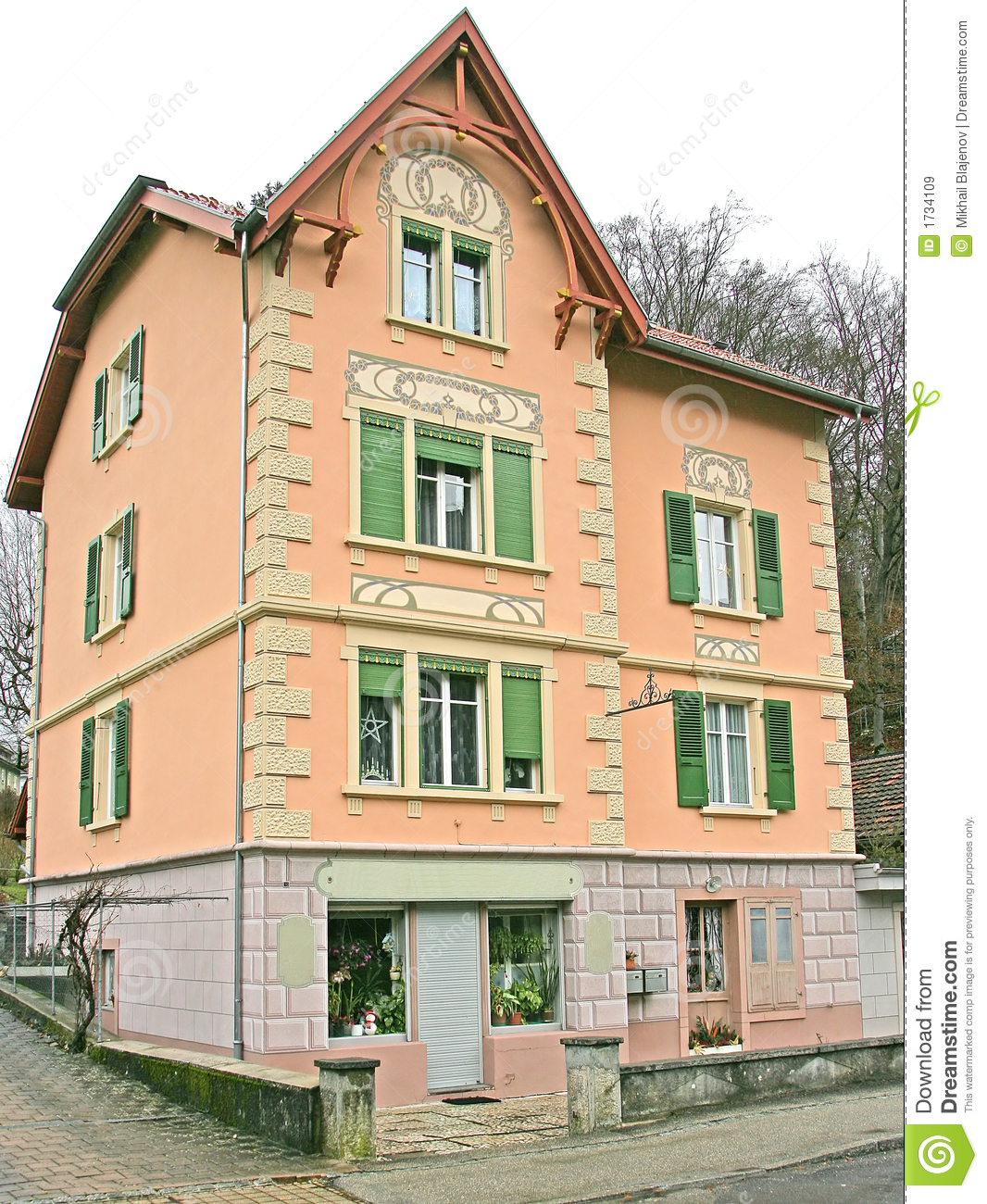 Nice village house 5 stock image image of swiss for Nice home photos