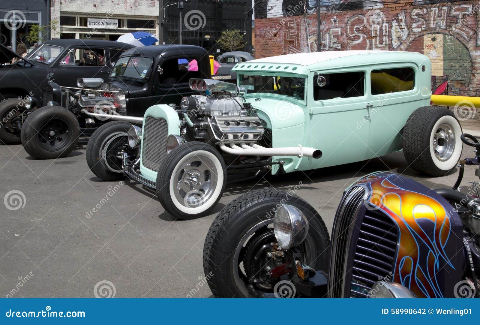 Nice Vintage Car Show In City Dallas Editorial Photography Image - Car show dallas