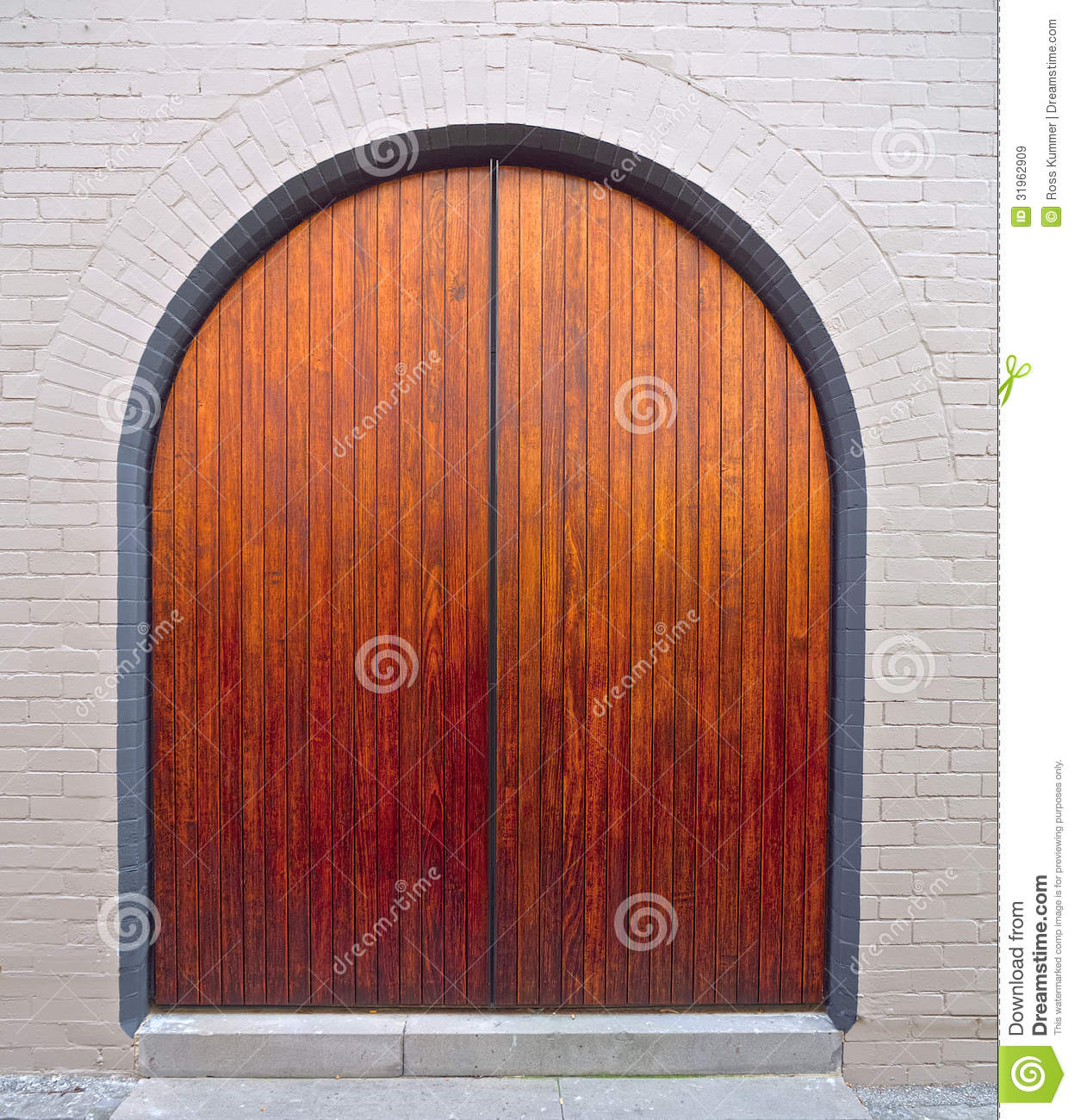 Nice wooden arched door royalty free stock images image for Big entrance door