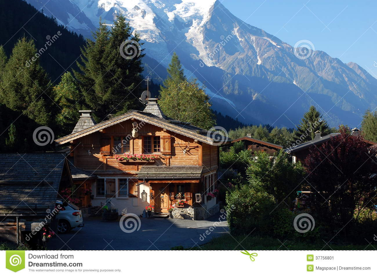 A Nice Wooden Mountain House Stock Image Image 37756801