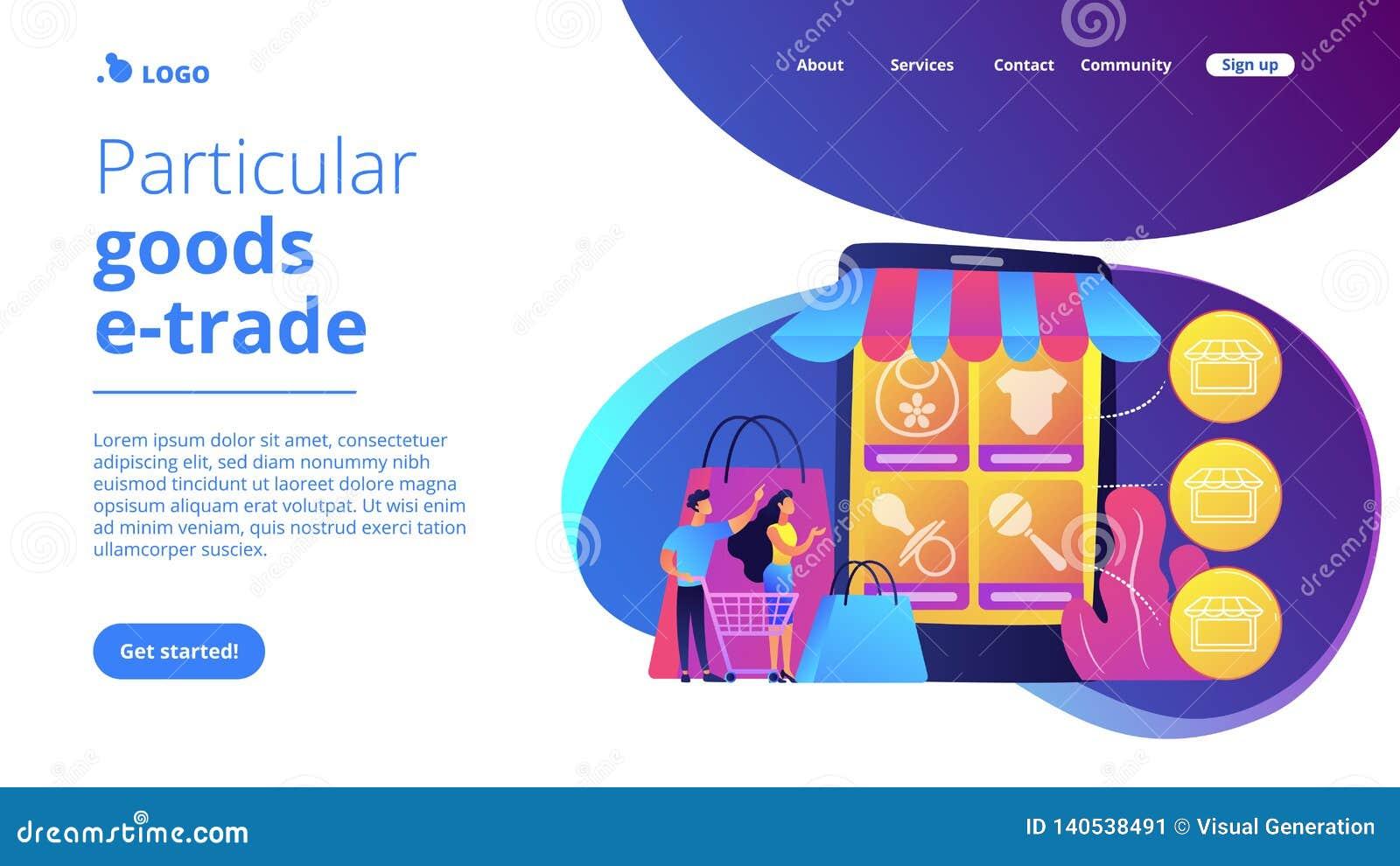 Niche Service Marketplace Concept Landing Page  Stock Vector