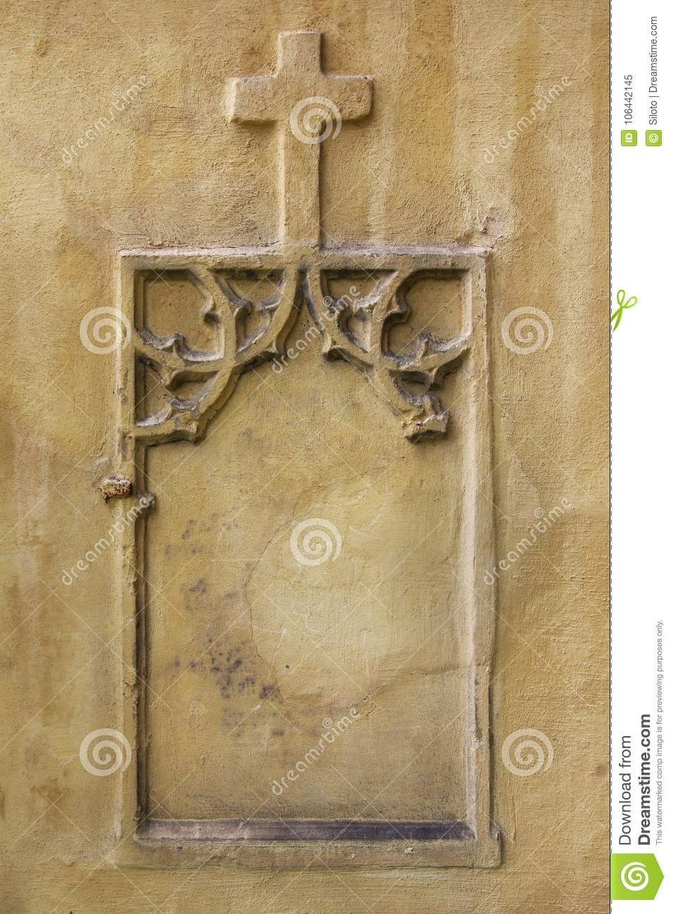 Niche In The Wall - Information Boards - Copy Space Stock Image ...