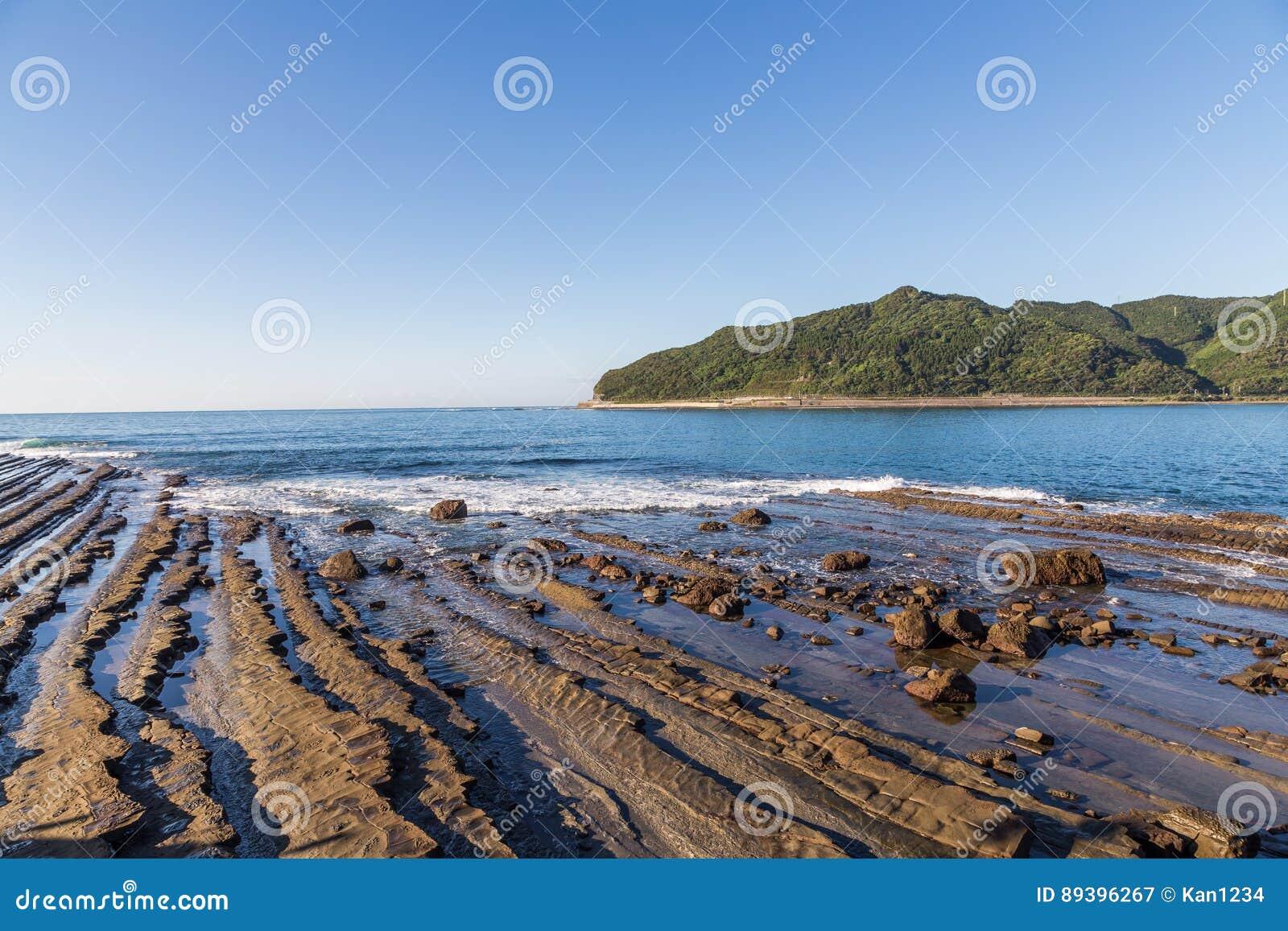 Nichinan-Küstenlinie von Phoenix, Standpunkt in Miyazaki, Kyushu,