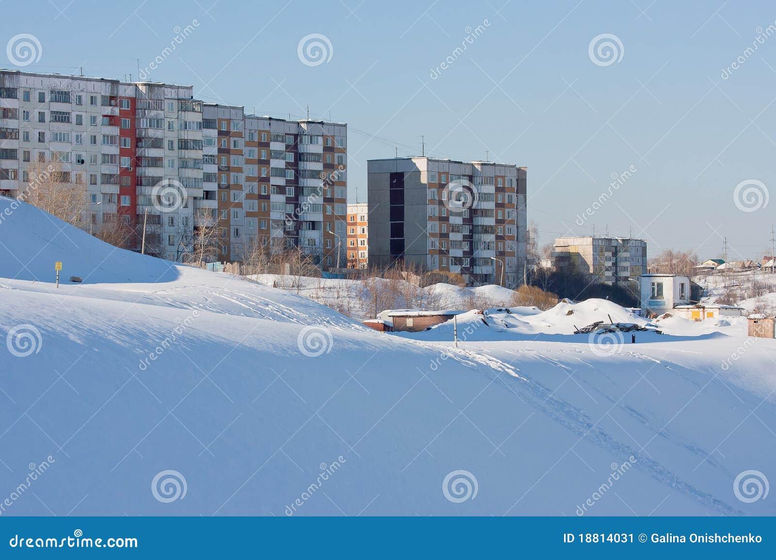 Nicken Wohnunghäuser auf Leid, Stadt Perm