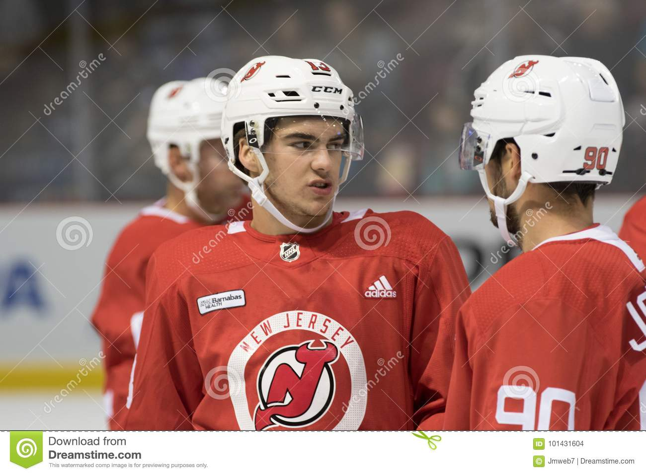 premium selection 1db35 79fe8 Nico Hischier New Jersey Devils Editorial Stock Image ...