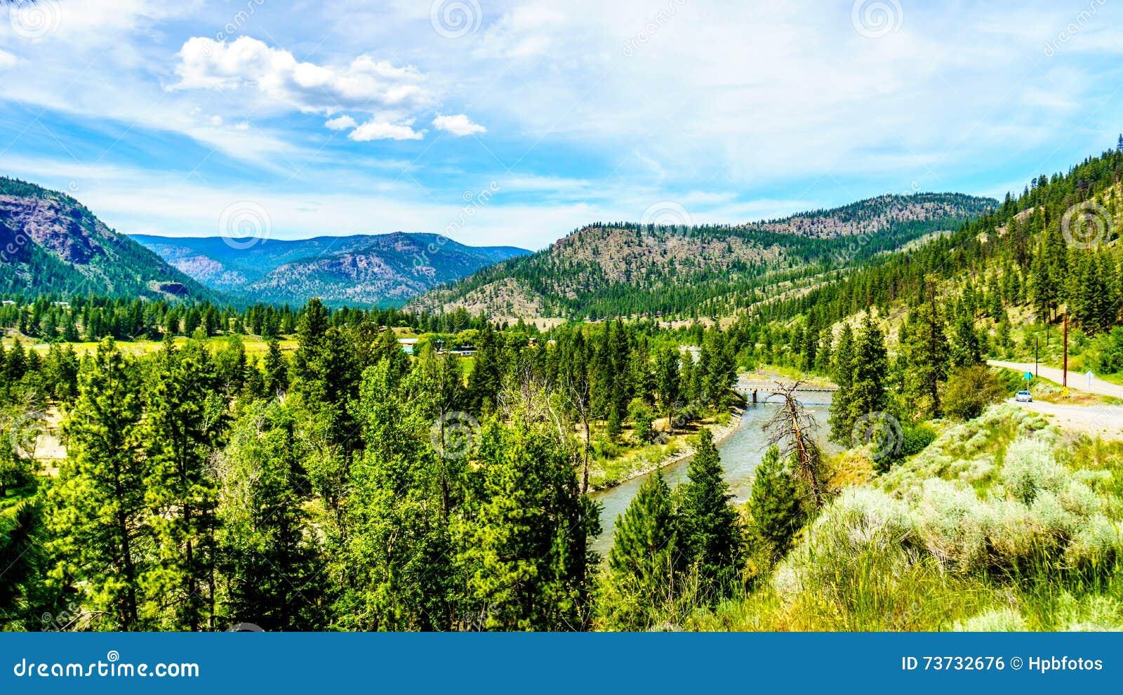 The Nicola River flows through the Lower Nicola Valley near Merritt, British Columbia