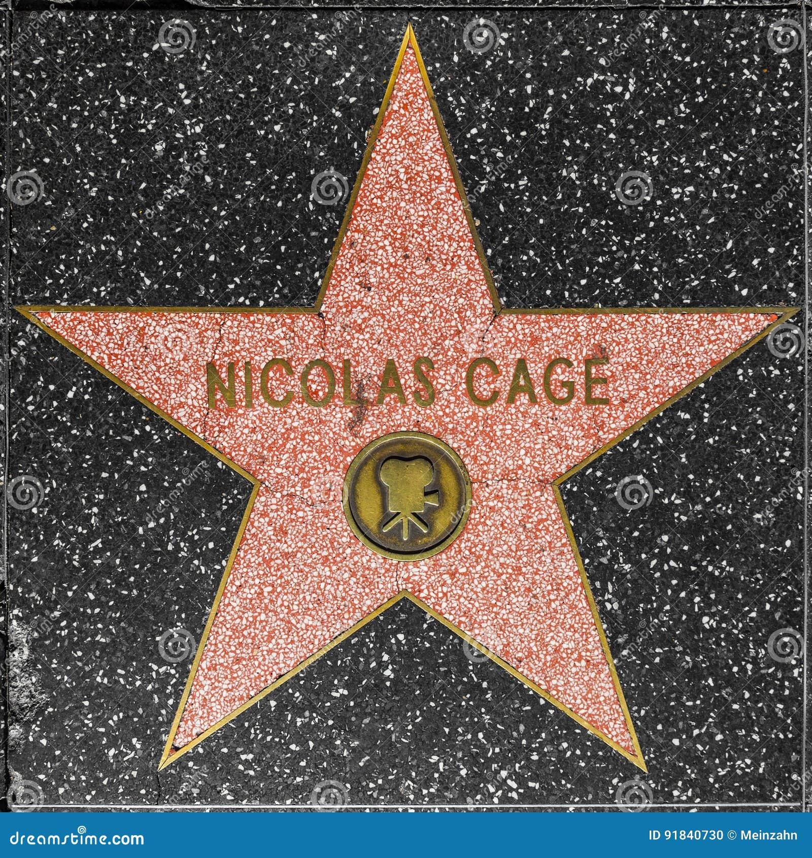 Nicolas Cages-ster op Hollywood-Gang van Bekendheid