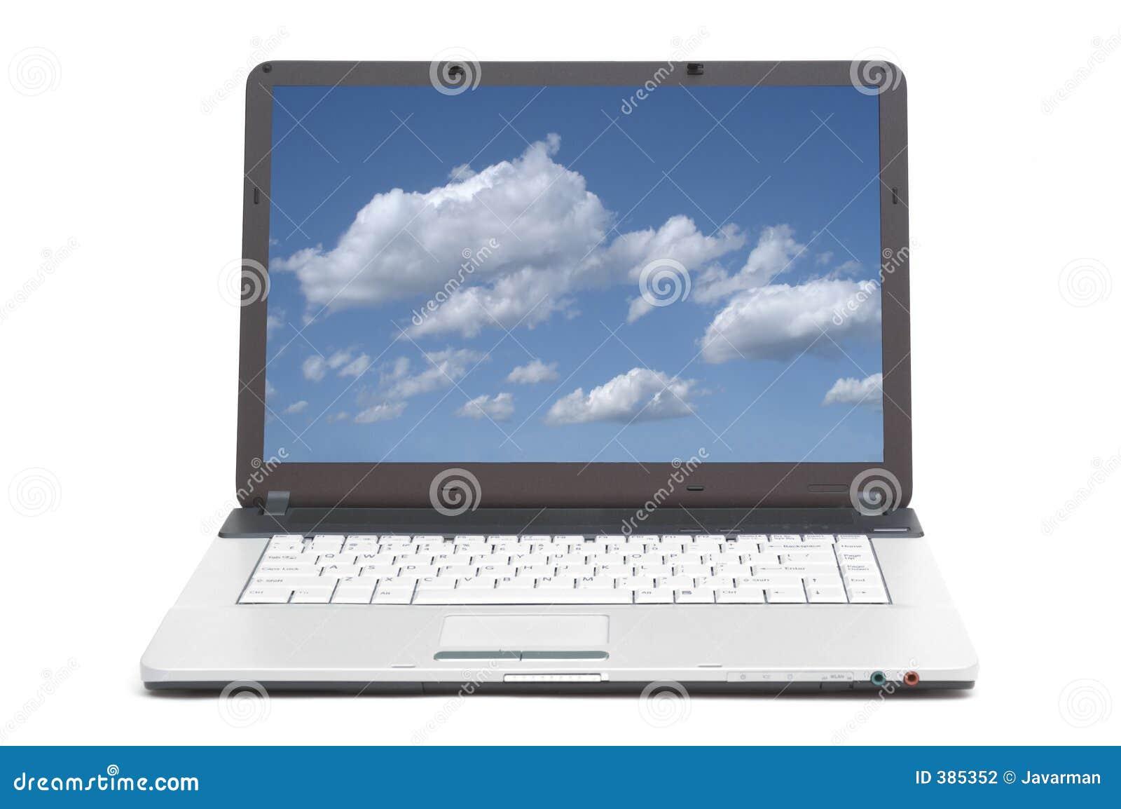 Nieba na ekranie notatnik