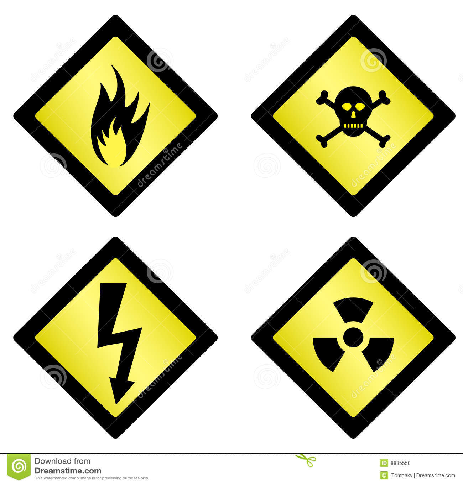 Niebezpieczeństwo symbole