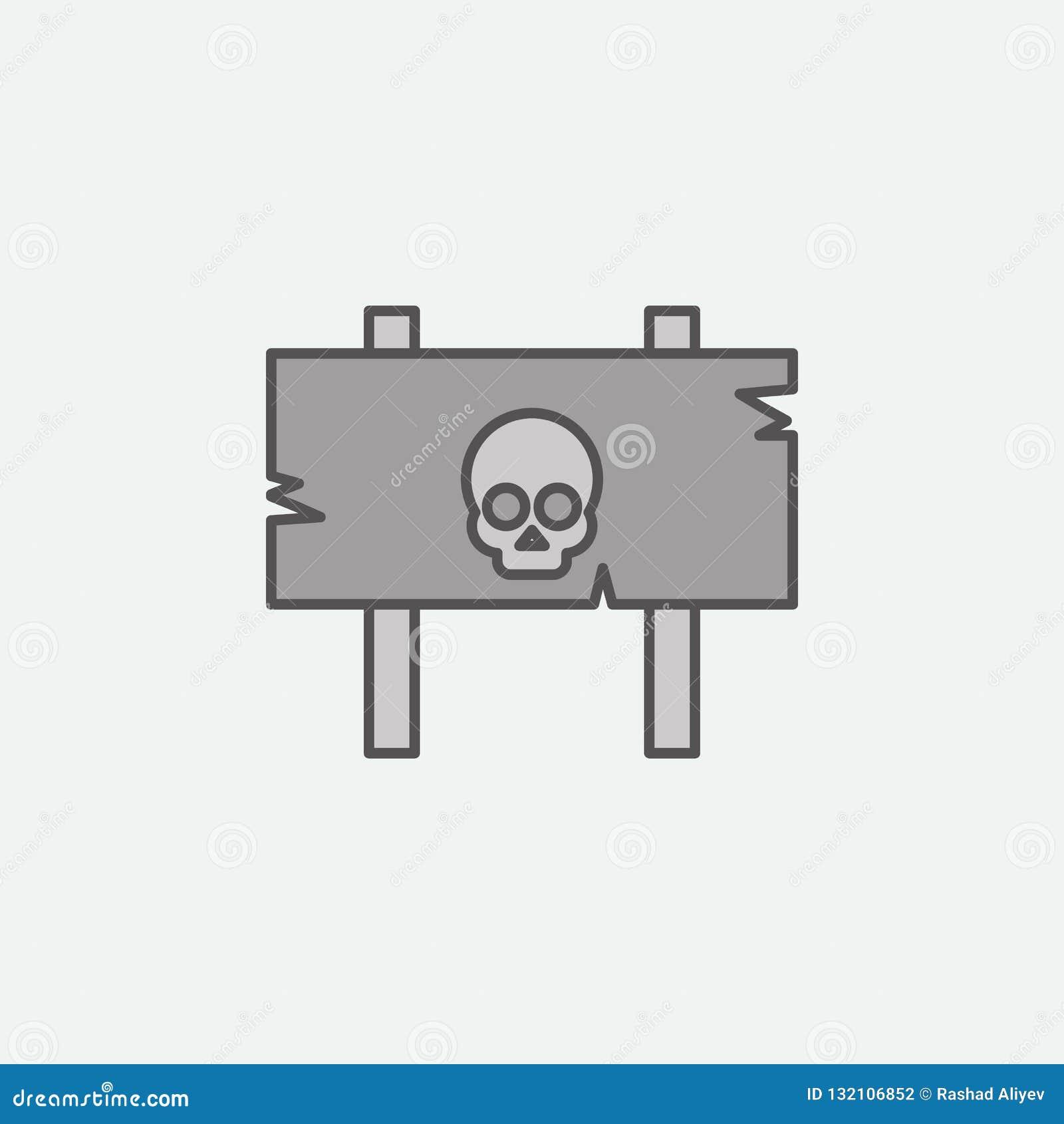 Niebezpieczeństwo znak dla Halloweenowego tematu barwionej ikony Jeden Halloweenowe inkasowe ikony dla stron internetowych, sieć