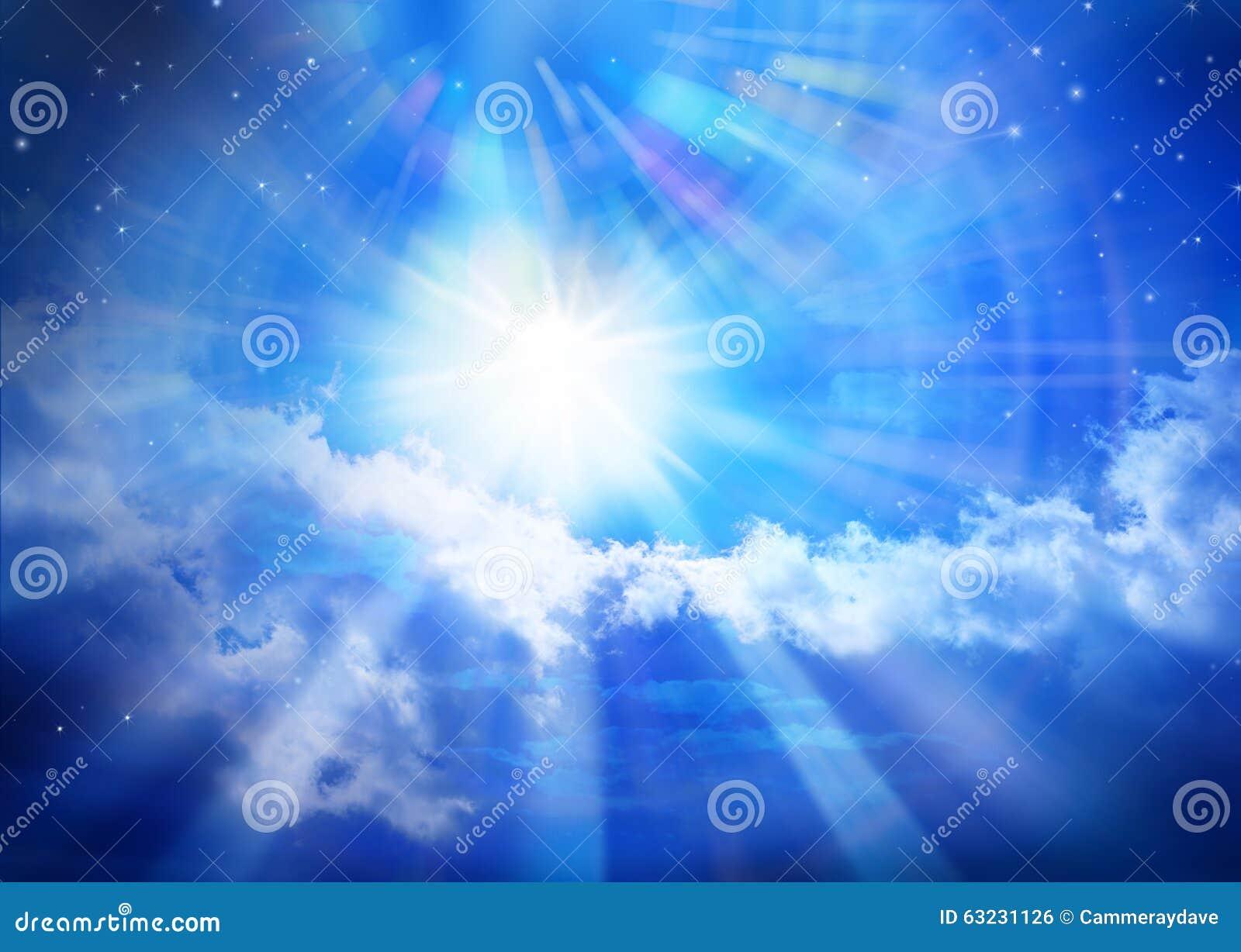 Niebiańskiego nieba słońca Wszechrzecza gwiazda