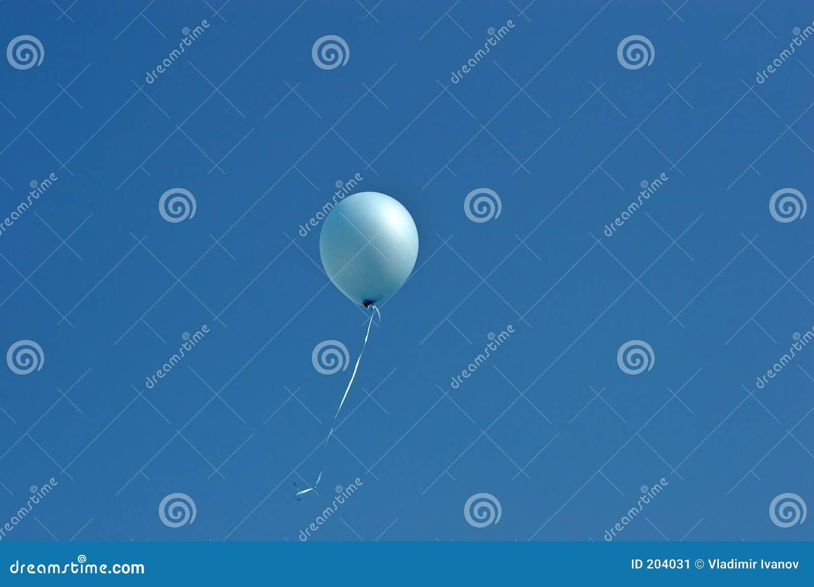 Niebieska balonowy